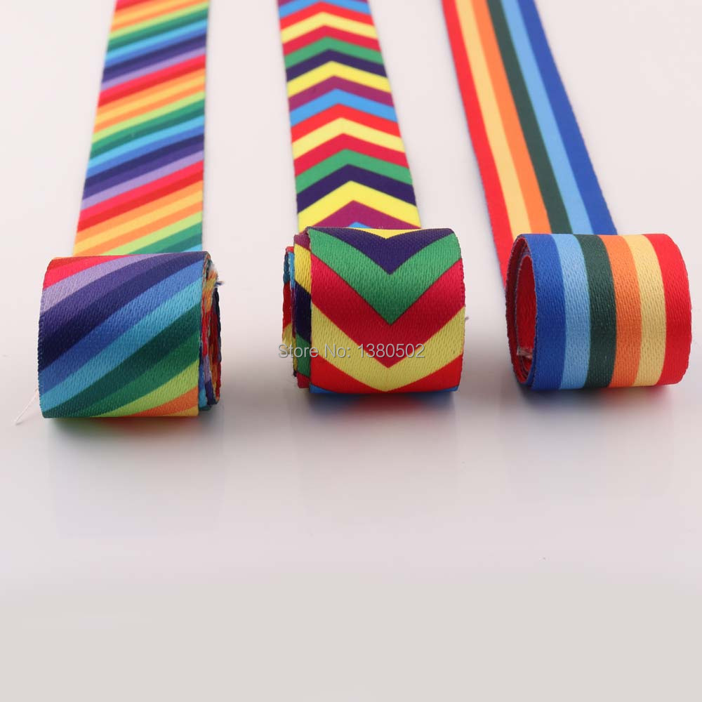 5yards Rainbow color 38mm width polyester/cotton Canvas Webbing Strap for Bag Belt Garment  Sewing Accessories