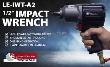 цена на LEMATEC Industry 1/2 Inch Air Impact Air Car Repairing Metal Impact Wrench Cars Wrenches Taiwan Made Pneumatic Tools
