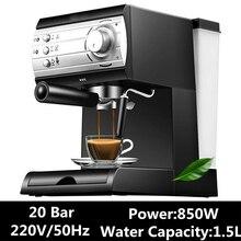 Полуавтоматическая эспрессо итальянская кафе машина бытовой насос Паровая кофеварка для дома Коммерческая 20 бар 1.5л 110-220-240в