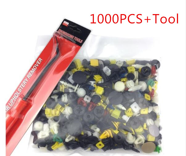 500Pcs Push Pin Mixed Door Trim Panel Clip Fastener Bumper Rivet Retainer w//tool
