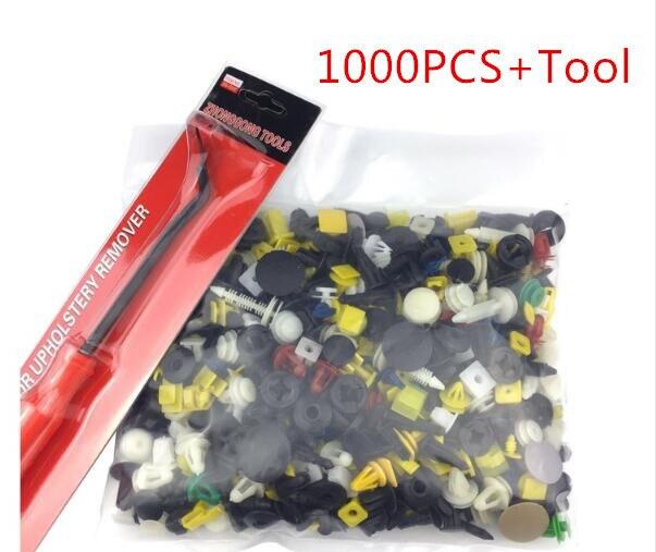 500 Pcs/Set Mixed Color Car Plastic Bumper Rivets Automotive Door Trim Panel Clip Fasteners Retainer Push Pins CSL2017