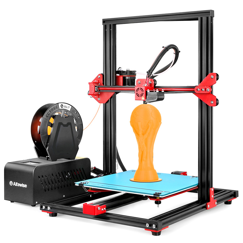 Alfawise U20 Large Scale 2.8 inch Touch Screen Aluminium Alloy DIY 3D Printer EU Plug