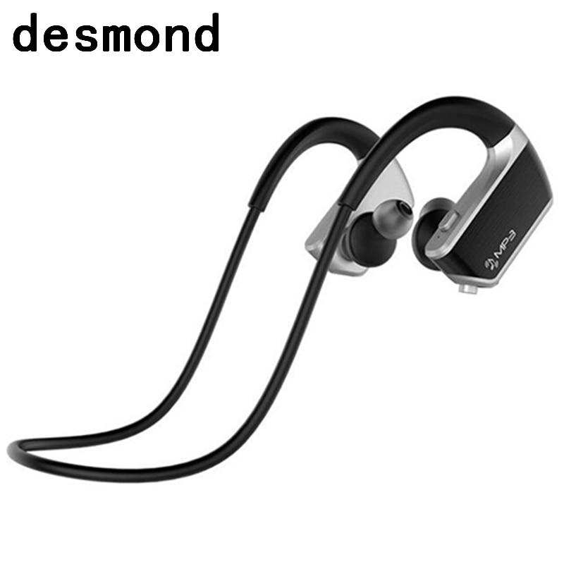 Desmond J2 Bluetooth Earphone MP3 Player 2 In 1 APP Control Voice Reminder Waterproof Headset Built-In 8GB Memory