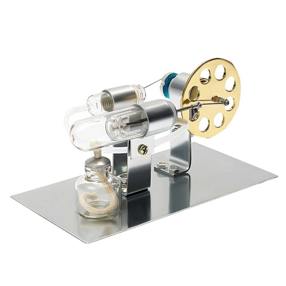 Hot Air Stirling Engine Model Electric Generator Motor Physics Steam Power Toy Scientific Teacching EductationToys