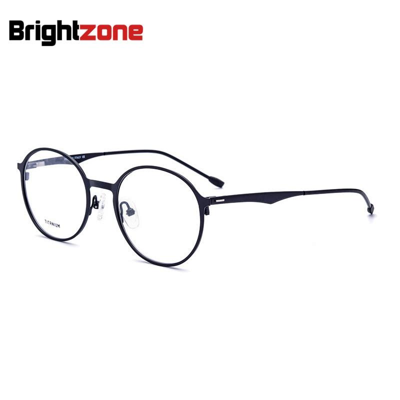 European American Style Titanium Metal Oval Eye Woman Sight Prescription Graduated Glasses Frames For Men Lentes Opticos Hombre