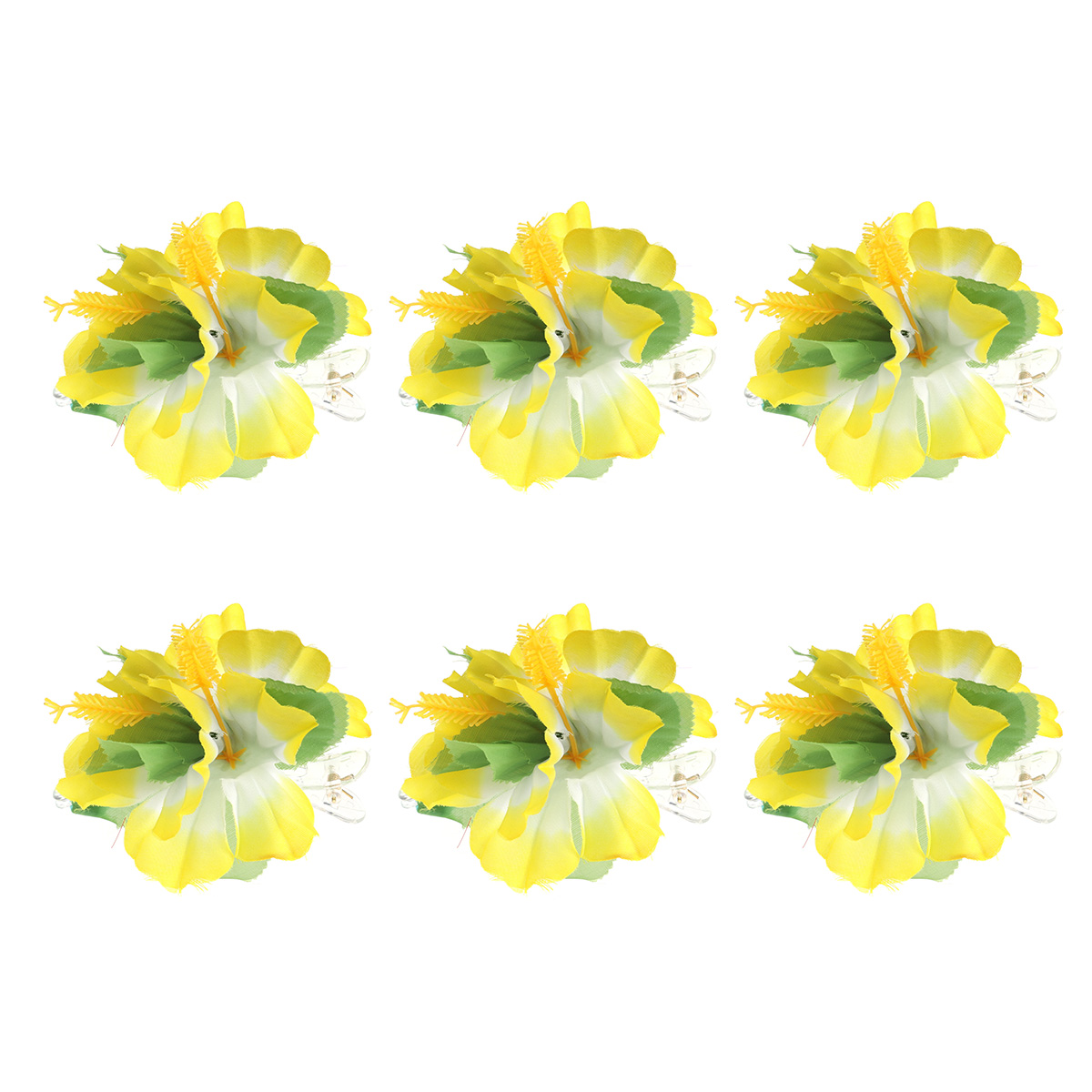 6pcs Women Plumeria Flower Hair Clips Hair Accessories Barrette Wedding /& Party