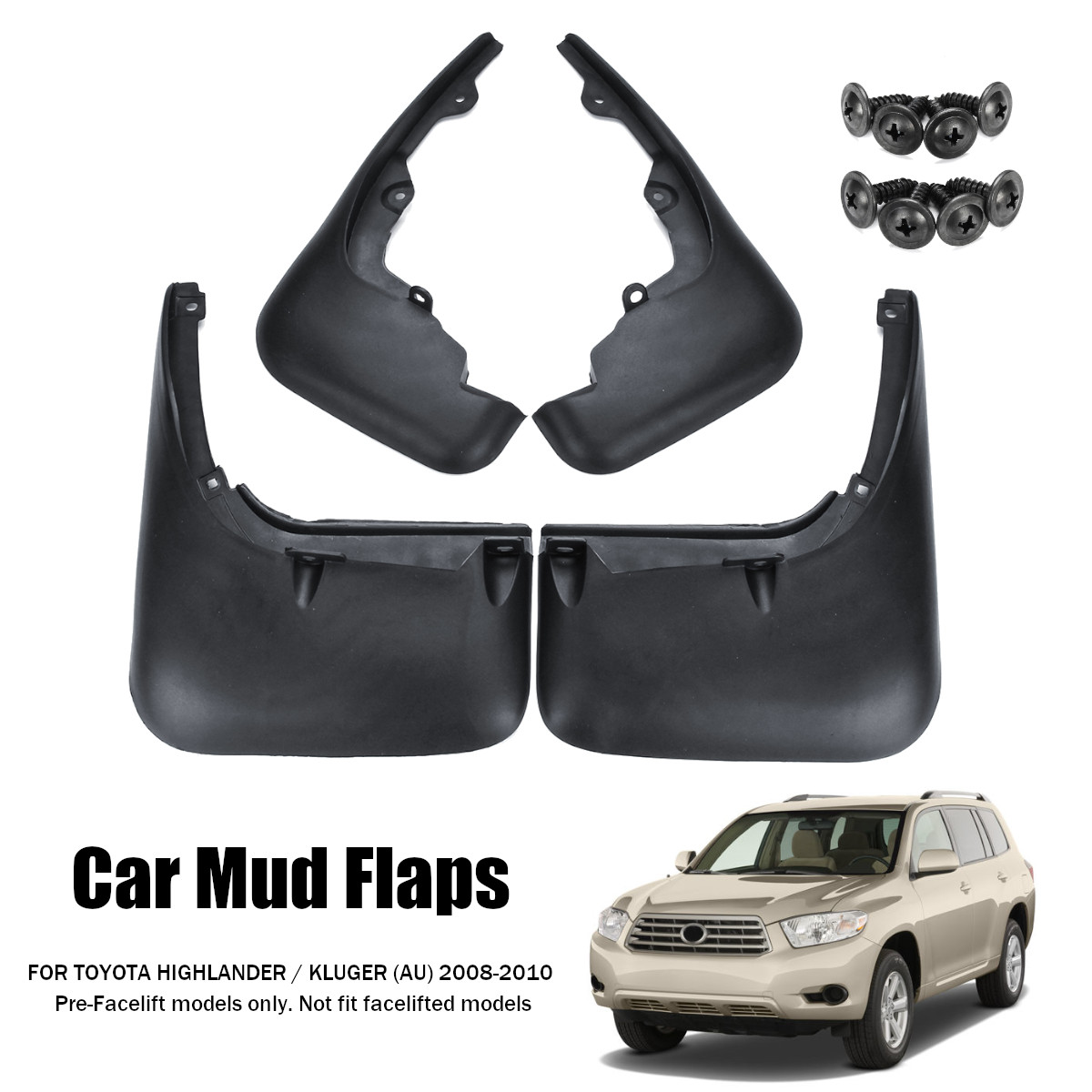 4x For Toyota Highlander XU50 2014-2018 Mud Flaps Splash Guards Mudguards Fender