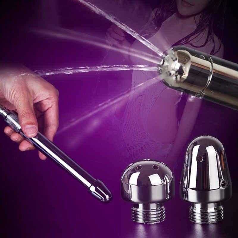 3 Gaya Stainless Steel Kloset Duduk Kran Bergegas Anal Douche Shower Cleaning Musuhnya Enema Logam Anal Cleaner Bokong Butt Tekan