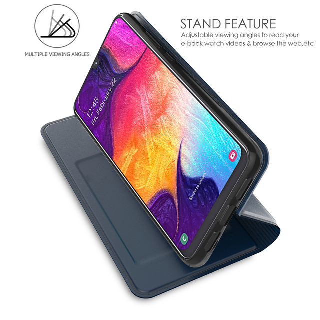 For Samsung Galaxy A50 A30 Case PU Leather Flip Stand Magnetic Wallet Cover For Samsung A50 2019 A30 A20 A40 A80 Case Card Slot