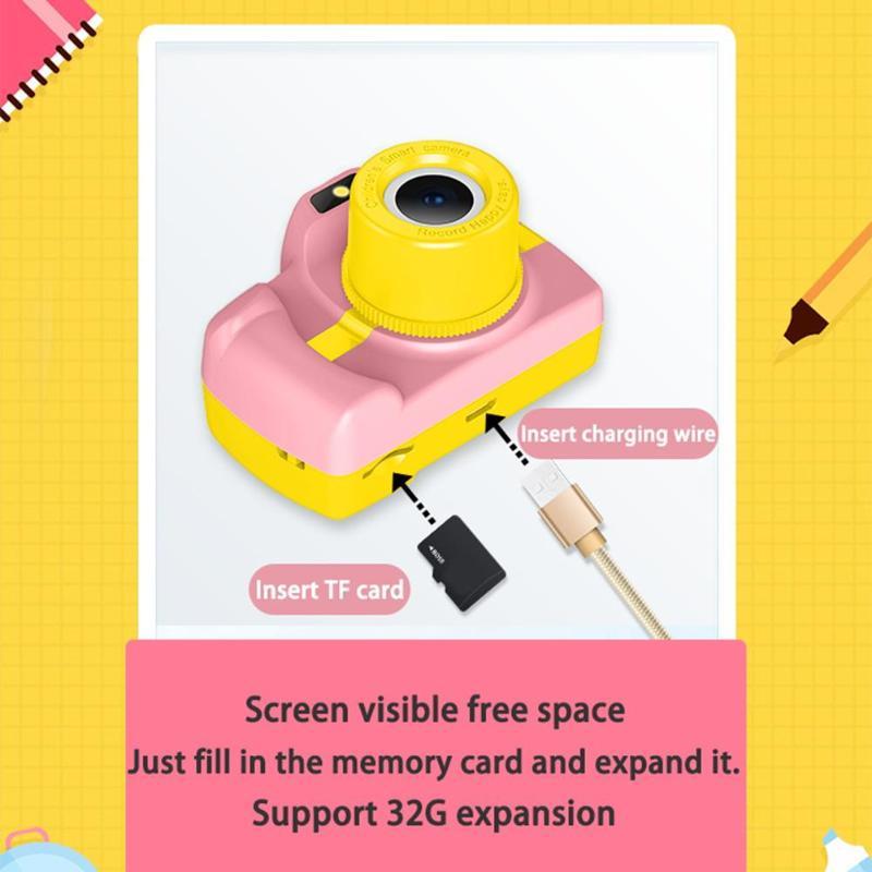 1.5 pouces DSLR Mini caméra HD Portable appareil photo numérique pour enfants bébé mignon dessin animé multifonction jouet appareil photo enfants meilleur cadeau - 5