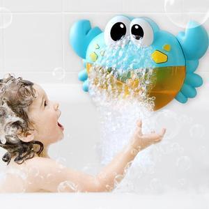 Image 1 - Juguetes de baño para bebés de 25 estilos, máquina de burbujas, ranas y cangrejos grandes, soplador automático para hacer burbujas, máquina de jabón de juguete para bañera