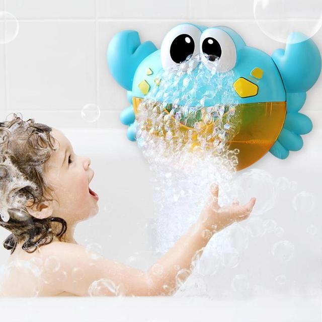 Juguetes de baño para bebés de 25 estilos, máquina de burbujas, ranas y cangrejos grandes, soplador automático para hacer burbujas, máquina de jabón de juguete para bañera