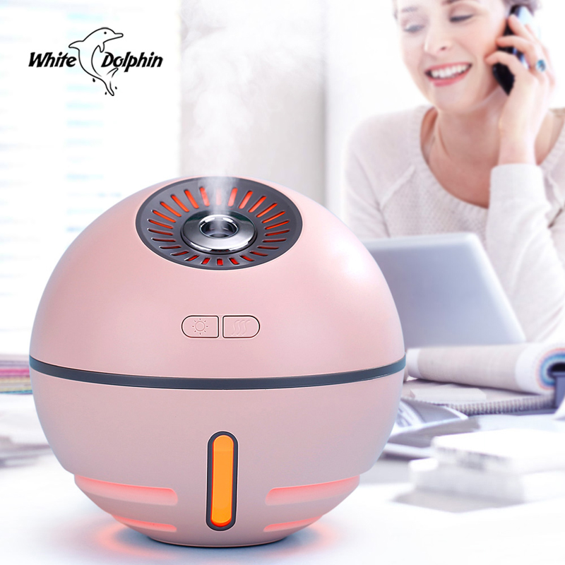 все цены на White Dolphin Mini USB Air Humidifier Aroma Essential Oil Diffuser Rechargeable Power bank Inside Portable USB mist maker fogger онлайн
