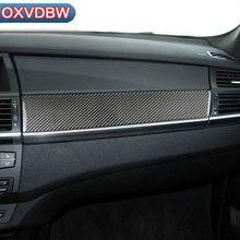 hot deal buy for bmw e70 e71 carbon fiber car copilot decoration strip refit  frame decor stickers x5 x6 2009-2013 car interior accessories