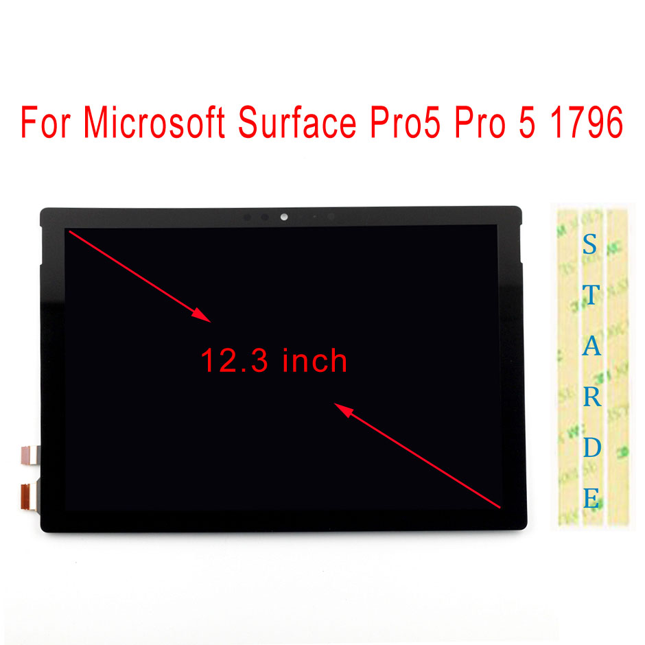 STARDE LCD de reemplazo para superficie de Microsoft Pro5 Pro 5 1796 Pro 6 pro6 pantalla LCD de pantalla táctil digitalizador Asamblea 12,3