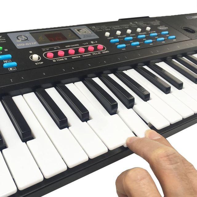 61 Keys Digital Electronic Keyboard And Microphone Electric Led Music 3