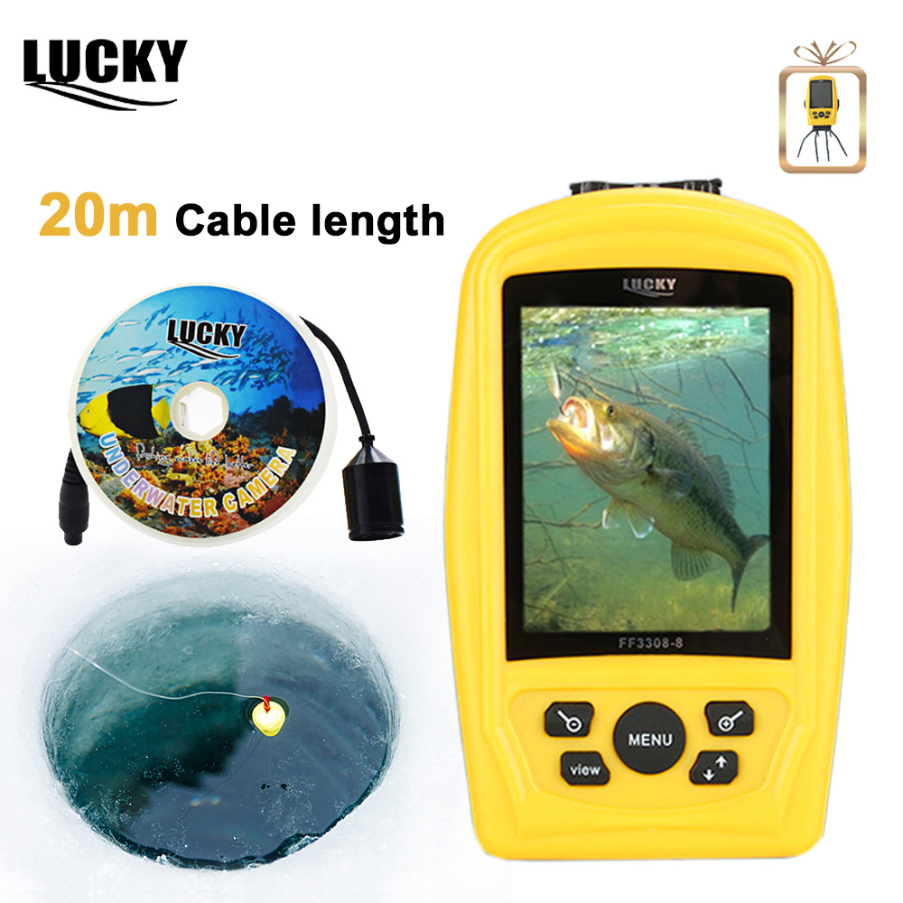 LUCKY CMD Fishing & Inspection sensor Sea Fish Finder 20M Cable Fishfinder 3.5 inch TFT Fish Finder Underwater Fishing Camera цена 2017