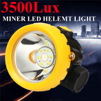1W 3500Lx Miner Head Cordless Torch Lamp Light LED Helmet Power Miners Protective Helmet Waterproof Workplace Safety Supply New