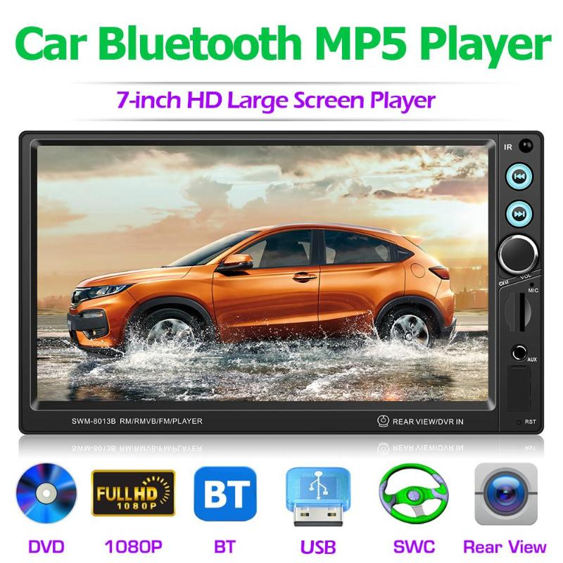 7 Inch Car Stereo MP5 Player Bluetooth FM Radio USB AUX Head Unit with Reversing Camera image