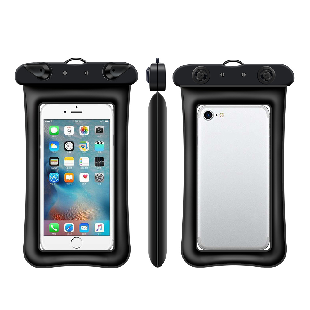 Floating airbag inflatable mobile phone waterproof bag new touch screen swimming transparentmobile phonecover