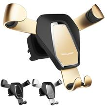 Car Holder Non-slip Air Outlet Clip Fixed Phone Iron Claw Shaped Gravity Metal Stand Safe Triangle Induction