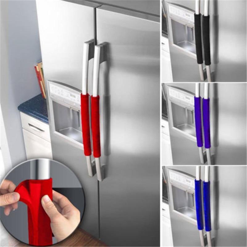 2pcsset:  2pcs/set Kitchen Appliance Handle Cover Decor Smudges Door Refrigerator Fridge Oven Door Knob Covers - Martin's & Co