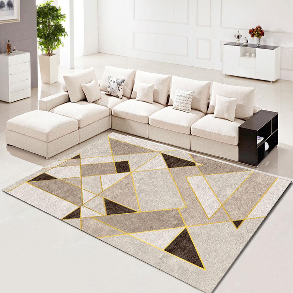 Bedroom Floor Mat Nordic Style Geometric Printed Soft Washable Carpet Floor Carpet 120*160 CmBedroom Floor Mat Nordic Style Geometric Printed Soft Washable Carpet Floor Carpet 120*160 Cm