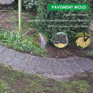 Image 5 - Manually Paving Cement Brick Concrete Molds DIY Plastic Path Maker Mold Garden Stone Road Mold Garden Decoration