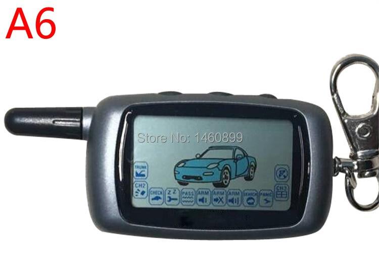 A6 2-weg LCD Fernbedienung Schlüssel Fob für Russische Version Fahrzeug Sicherheit Zwei weg Auto Alarm System Twage starline A6