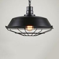 Vintage Metal Cage Hanging Ceiling Pendant Light Holder Lamp Shade Pendant Industrial Ceiling LED Light