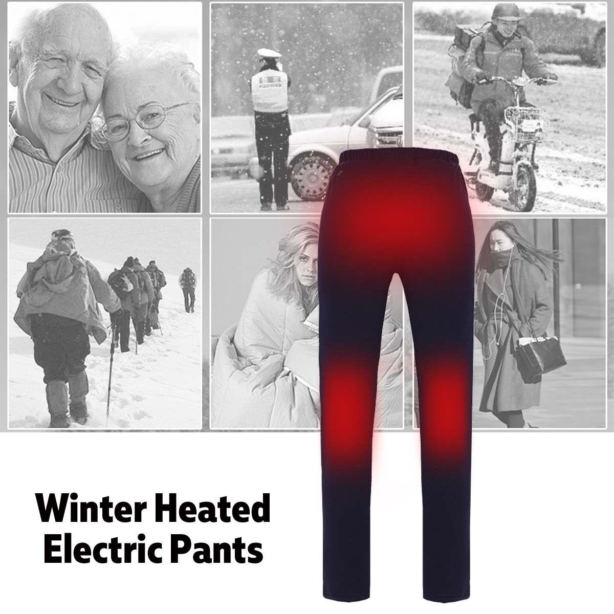 Nouveaux hommes femmes randonnée chauffage pantalons chauds Camping escalade pêche électrique pantalons chauffants en plein air résistant à l'usure pantalons élastiques