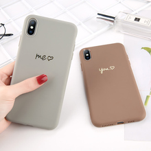 Sweet Candy Color Case for iPhone XR XS X Xs Max Love Heart Phone Cover 6 6S 7 8 Plus Soft TPU Silicone Cases Coque