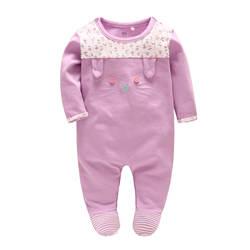 Vlinder/Коллекция 2018 года, детская одежда для маленьких девочек, плотная одежда с милым котом, хлопковый комбинезон с длинными рукавами