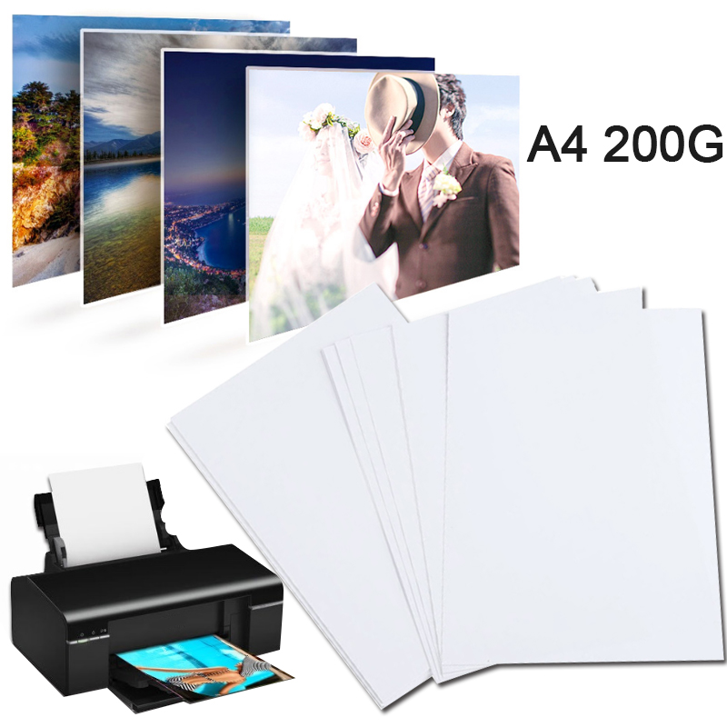 A4 Photo Paper Glossy Printer Photographic Paper High-gloss paper for Inkjet Printer Office Supplies 20 sheets / Pack 1