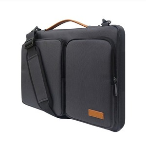 Image 4 - 새로운 핸드백 노트북 슬리브 가방 휴대용 비즈니스 서류 가방 맥북 13.3 15.6 인치 노트북 케이스 방수 고용량 가방