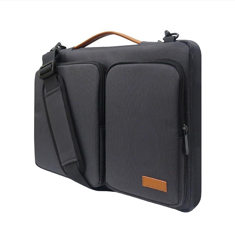 Image 4 - New handbag laptop sleeve bag Portable Business Briefcase for  Macbook 13.3 15.6 inch Notebook case waterproof High capacity bagLaptop  Bags