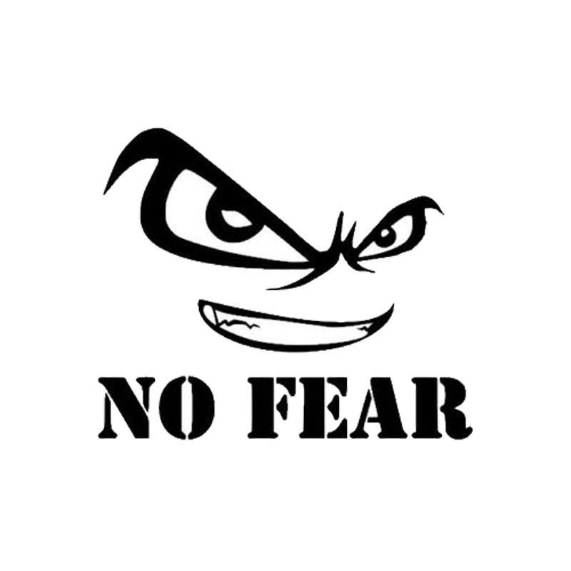 10.5cm*9cm Personalized No Fear Evil Eye Vinyl Decor Decals Motorcycle SUVs Bumper Car Window Stickers