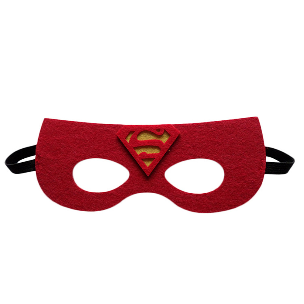 Image 5 - Wholesales 20pcs/lot Super Hero Cosplay Mask Halloween Party Dress up Costume Mask Kids Birthday Party Superhero Cos Favor Gifts-in Party Masks from Home & Garden