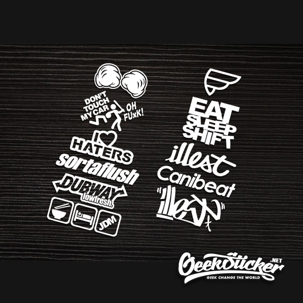 Us 899 Hellaflush Car Stickers Accessories Scrawl Supreme Oh Shit Rotiform Illest Eat Car Styling Reflective Vinyl Sticker Decal Exter In Car