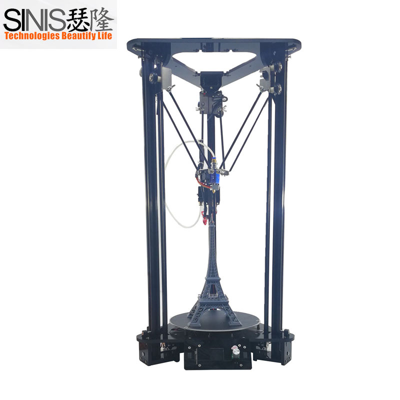Chinese Online Sales Large delta Sinis T1 Plus 3d Printer Diy Kit with Laser Engraver and