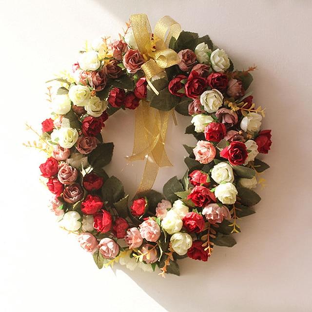Buatan Karangan Bunga Ornamen Pintu Ornamen Menggantung Hiasan Dinding  Dekoratif Pernikahan Kreatif Garland Perlengkapan Pesta 2cef4a76cd