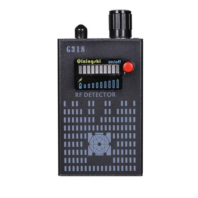 Novo 1 mhz 8000 mhz sem fio detector de sinal de onda de rádio wi fi detector de insetos câmera de gama completa rf detector g318 ue/eua plug