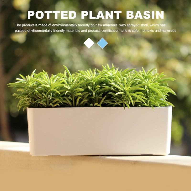 Self-watering Flower Pot Indoor Green Plant Succulent Plant Pot Desktop Garden Pots Automatic Water Absorption Flower Planter