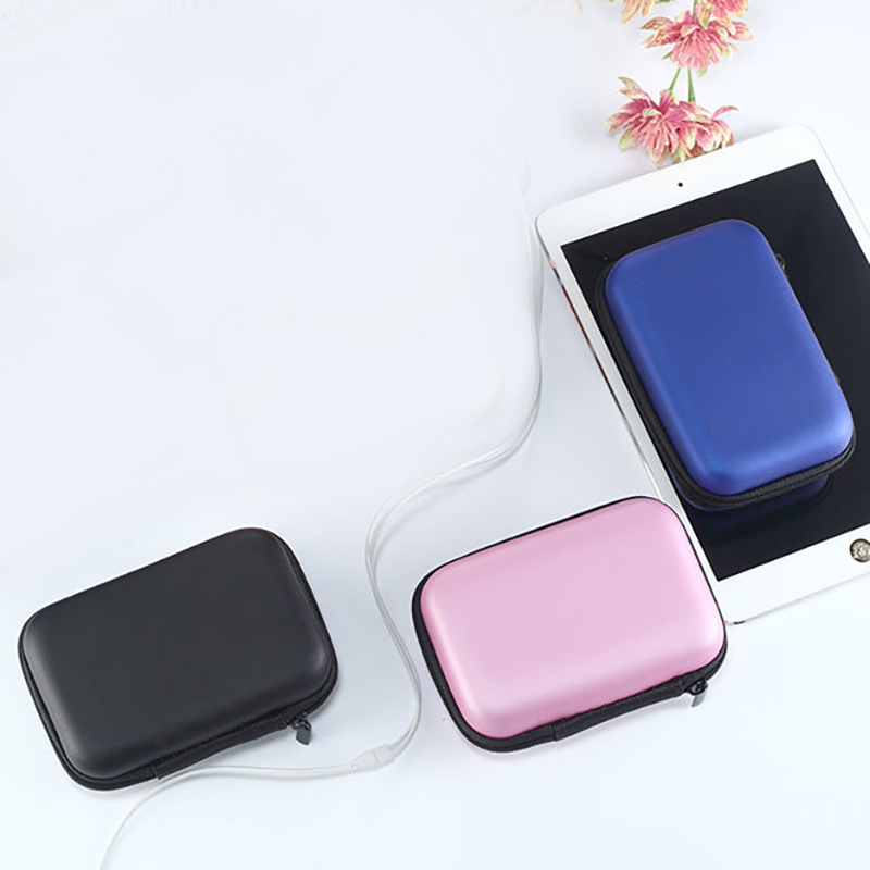 Headphones Earphone Cable Earbuds Storage Hard Case Carrying Pouch bag SD Card Hold box 1Pc