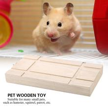 Small Pet Hamster Grinding Teeth Toy Wooden Swing Parrot Squirrel Springboard Bridge Toys
