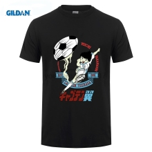 GILDAN DIY Style mens t shirts Classic Anime Short Sleeve Men T Shirt Captain Tsubasa Printed Summer Fashion Shirts