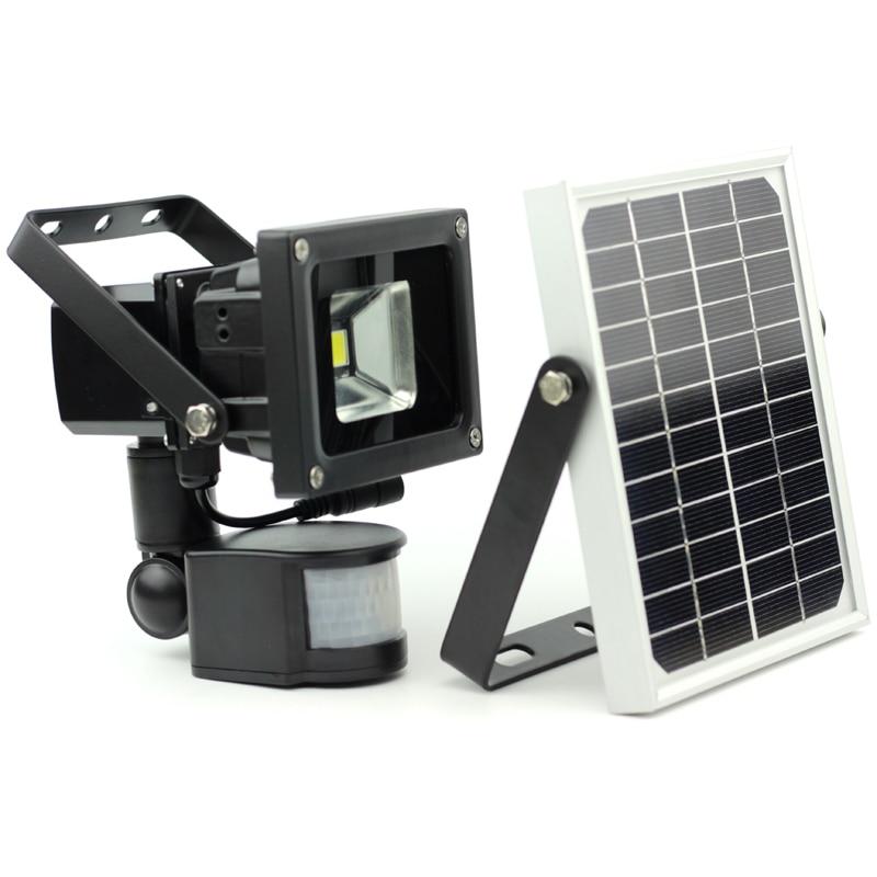 10W dimmerabile 4-40 ore luce di inondazione solare luce del giardino LED sensore di movimento lampada solare luce notturna 2 modalità luce hight-low