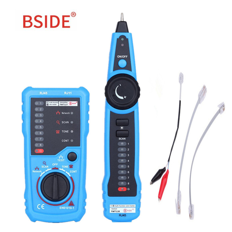 BSIDE FWT11 RJ11 RJ45 Telephone Wire Tracker Tracer Toner Ethernet LAN Network Cable tester Line Finder|Circuit Breaker Finders| |  - title=