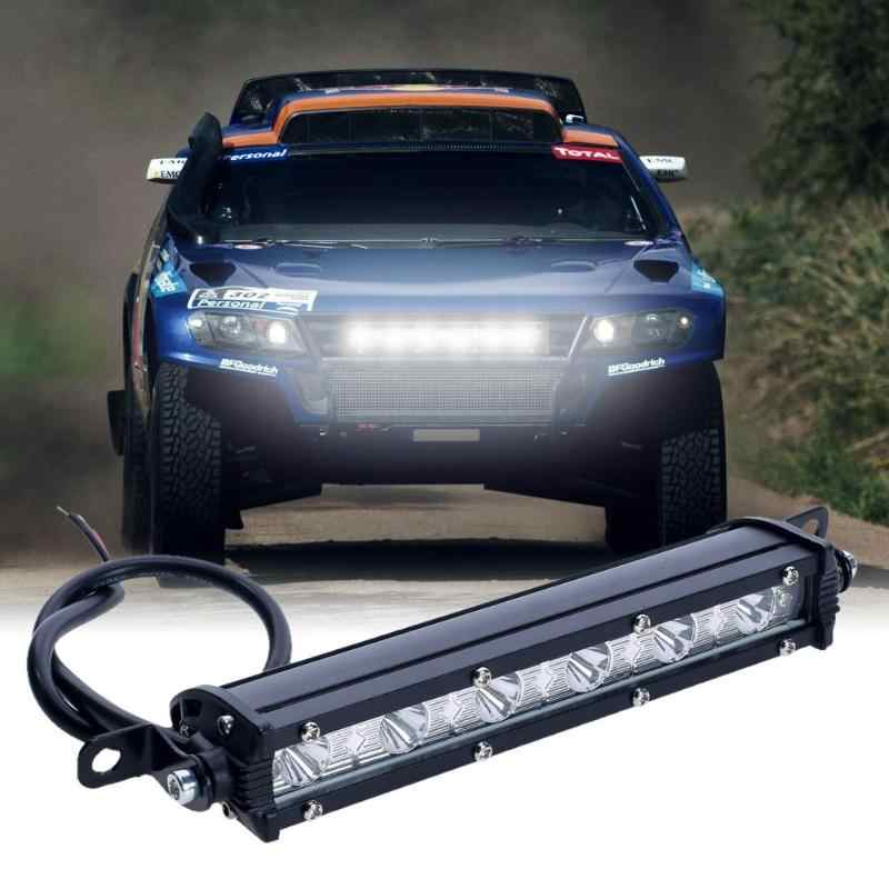 LED Work Light Bar Driving Lamp Waterproof Adjustable Trunnion Bracket Moun 18W 6000K For Off-Road Vehicle Automotive Light