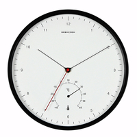 Geekcook Creative Metal Designer Wall Clocks Simple Scale Nordic Minimalist Style Thermometer Hygrometer Multi Function Wall C